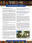 Faculty Newsletter, Fall 2014, Volume 1, Issue 2