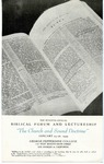 7th Annual Biblical Forum and Lectureship -- The Church and Sound Doctrine (1949)