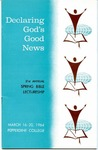 21st Annual Spring Bible Lectureship -- Declaring God's Good News (1964)