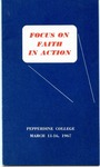 24th Annual Spring Bible Lectureship -- Focus on Faith in Action (1967)