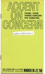 25th Annual Spring Bible Lectureship -- Accent on Concern: These Things Concern the Christian (1968)