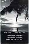 Pepperdine University Lectureship Program -- For Such a Time as This (1971)
